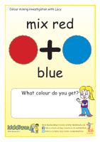 Colour mixing sheets for children from Kiddiwash