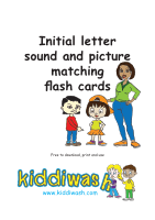 Initial letter sound and picture matching flash cards from Kiddiwash