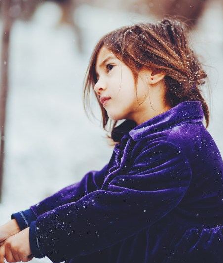 a girl in the snow