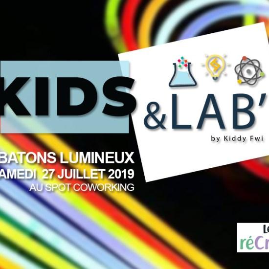 atelier enfants batons lumineux guadeloupe kids&lab