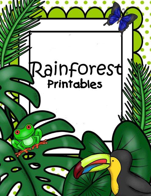 photograph regarding Rainforest Printable called Rainforest Printables