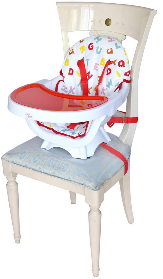high chair converts to table and office jakarta bebe style deluxe 3 in 1 - red kiddy products