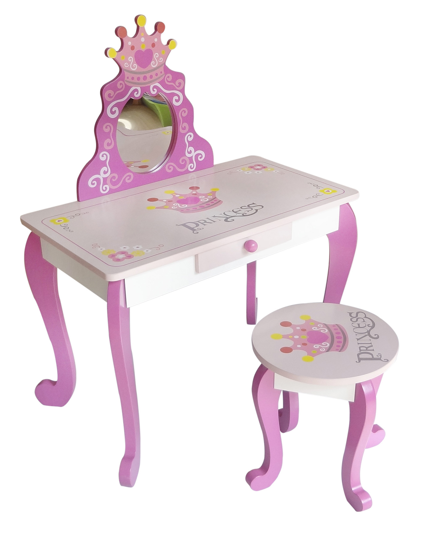 Little Girls Vanity Table And Chair Kiddi Style Princess Dressing Table And Stool Kiddy Products
