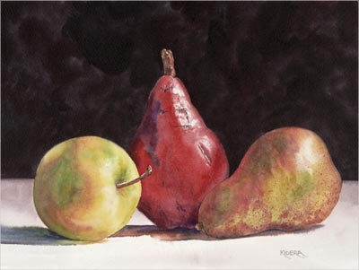 Two Pears & An Apple