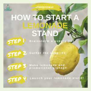 Start A Lemonade Stand In 4 Steps Kid Everest