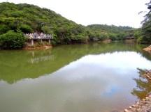 由「情人湖」入口處觀看「情人湖」全景~