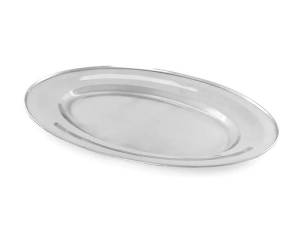 Bandeja grande oval inox
