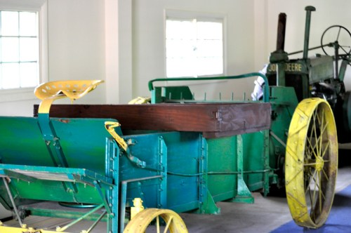 An old plow in the museum