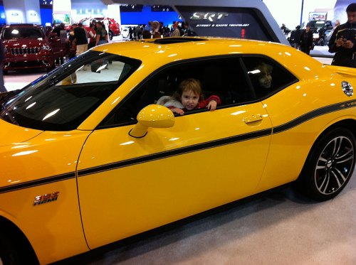 Showing off a sweet ride at last year's Washington Auto Show