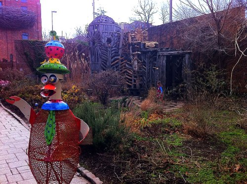 Whimsy in the sculpture garden