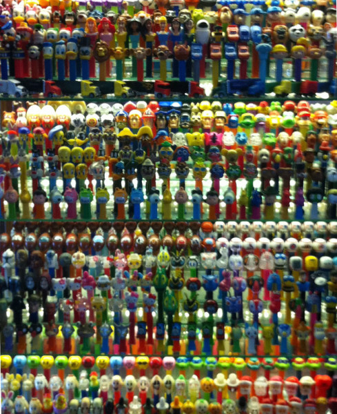 Shhh... I snuck a shot of the Pez!