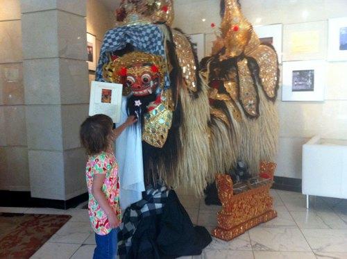 Indoensian dragon mask