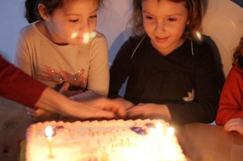 Butterfly birthday girl celebrates her 4th
