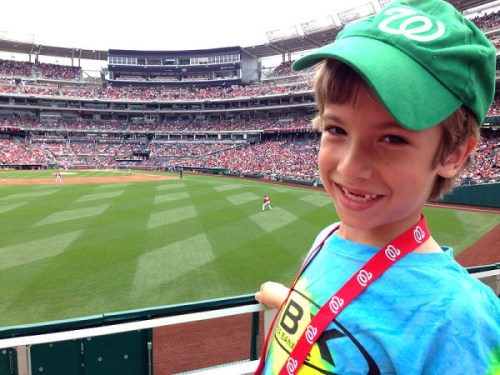 MVP Jr. Kids Club Member sportin' his Nats swag
