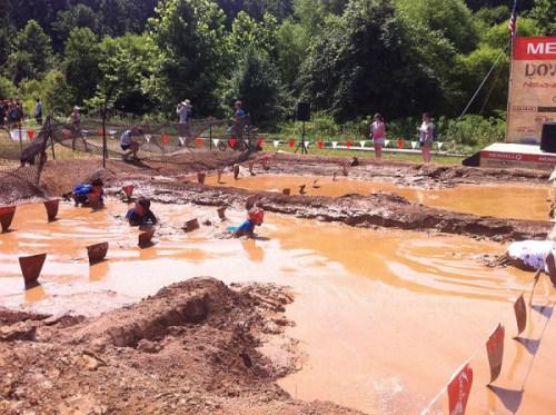A muddy swim