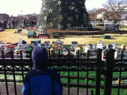 Viewing holiday displays on the Ellipse