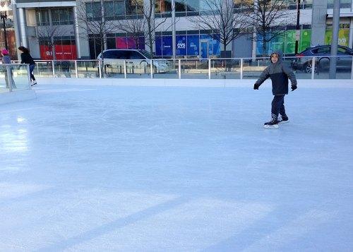 City skating at Canal Park