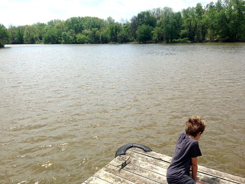 Checking out the river at Bladensburg Waterfront Park
