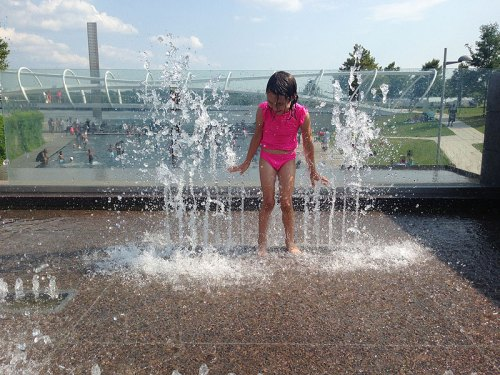 She could play all day at Yards Park