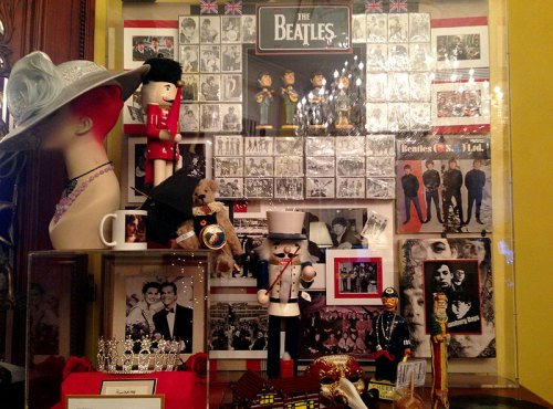 Beatles memorabilia abounds