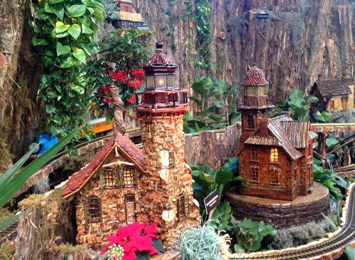 See the fantastic train display at the Botanic Garden through January 4