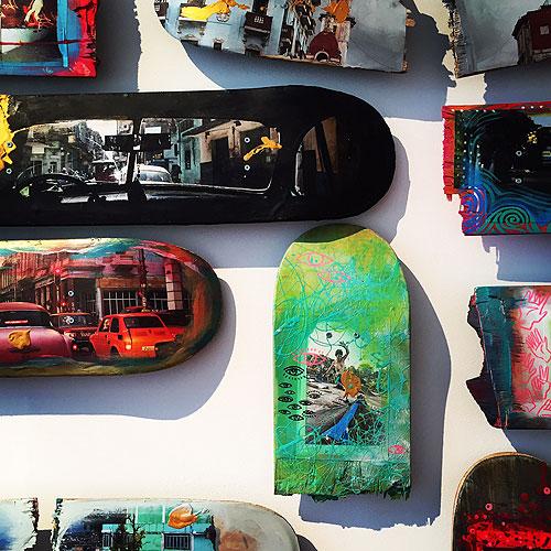Skate decks as art at the Kennedy Center