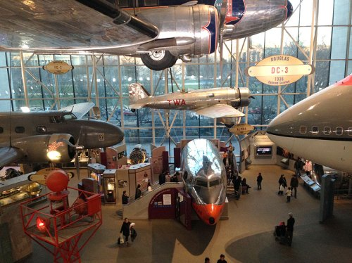 A special Family Day, fascinating exhibits, and shelter from the rain make the Air & Space Museum a great destination this weekend
