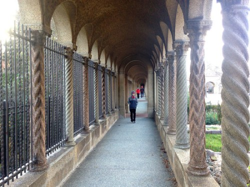 Strolling the Rosary Portico at the Franciscan Monastery