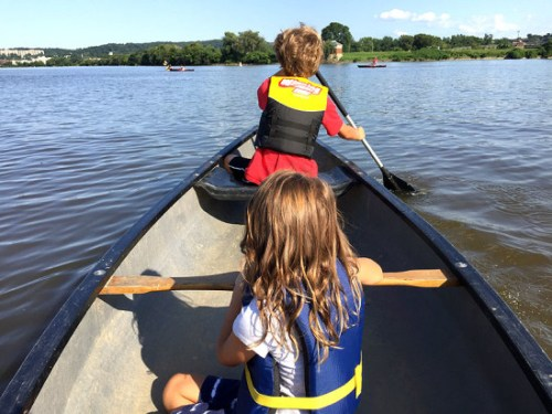 Exploring the Anacostia by canoe