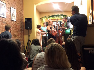Concert in a living room