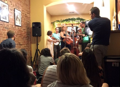Local bluegrass band By & By performs for Sofar Sounds