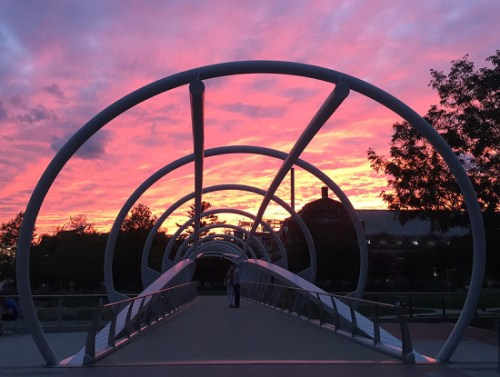 Catch a sunset this evening at Yards Park's final Friday Night Concert of the summer