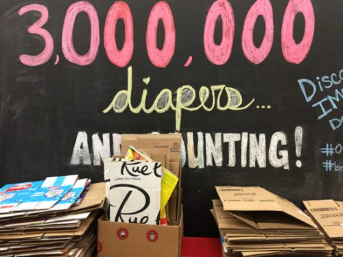 Keeping track of DC Diaper Bank's amazing work
