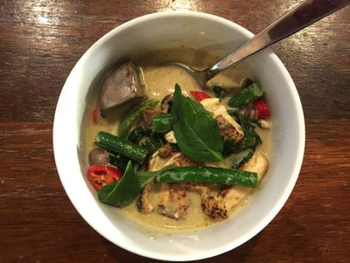 Green curry with tofu, just as good as any restaurant