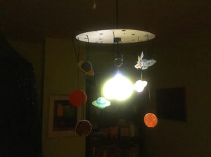 Made by Sasha: Glowing space mobile