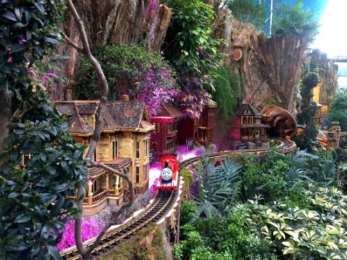 See model trains zip around National Parks and Historic Sites at the U.S. Botanic Garden