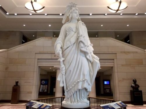 The Statue of Freedom at the U.S. Capitol
