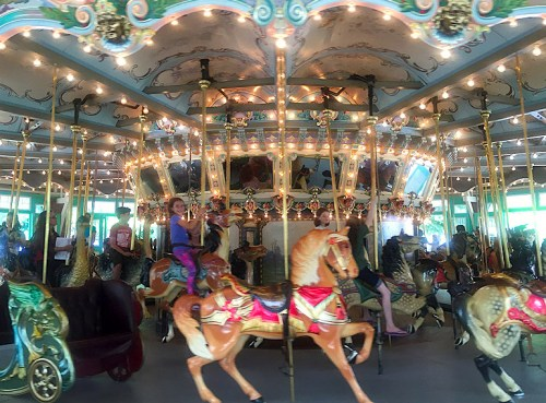 Go for a spin on the beautiful Dentzel Carousel at Glen Echo Park