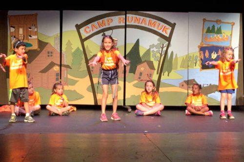 Sasha on stage in the 'Camp Runamuk' performance last summer