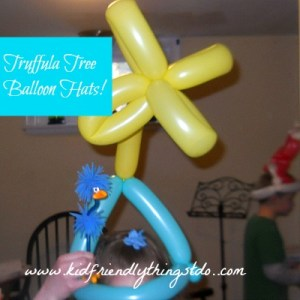 Truffua Tree Balloon Hats! A terrific way to celebrate Dr. Seuss