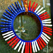 Make A Simple and Beautiful Patriotic Clothespin Wreath