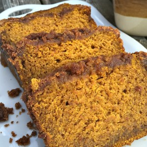 Pumpkin Spice Bread With Brown Sugar Crumb Topping - The best pumpkin bread I've ever had! - KidFriendlyThingsToDo.com