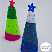 Easy Christmas Tree Craft Using Styrofoam Trees and Push Pins