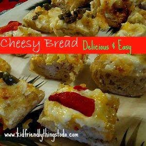Cheesy Garlic Bread - One of the most simple & delicious appetizers - ever!