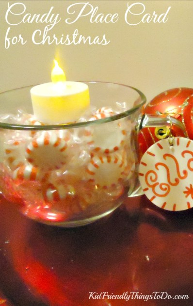 Tea Light and Candy Place Card for the Kids - KidFriendlyThingsToDo.com