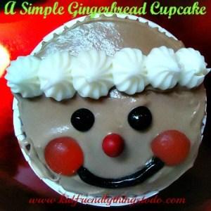 A Gingerbread Cupcake
