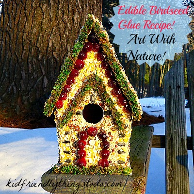 Edible Glue - An Easy Birdhouse Craft