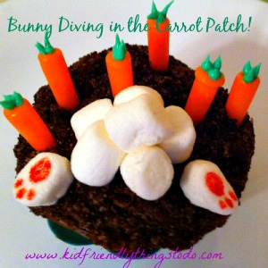 Awe! How cute! What a fun cupcake for Easter!
