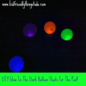 Floating Balloons That Glow In The Pool!