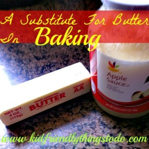 Applesauce is a great substitute for butter in baking!